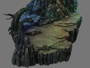 fallen land - jungle 3D model