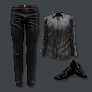 male formal set 3D model