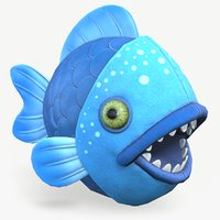 3D model piranha fish toy