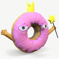 crowned donut toy 3D model