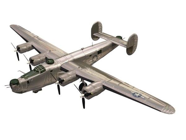 3D heavy b-24 bomber