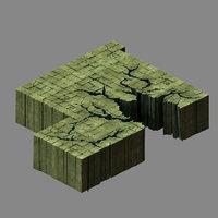 3D model funeral place - floor tiles