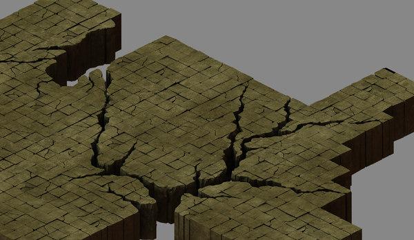 place destroyed - damaged 3D model