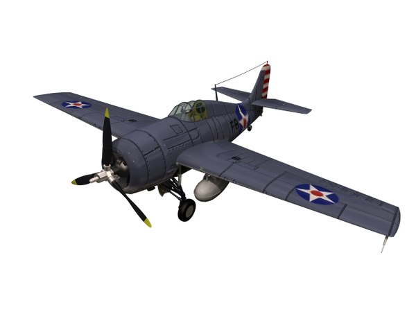 3D fighter f4f wildcat