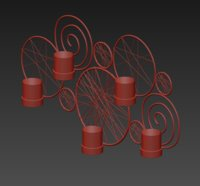 lamp chandelier light 3D model
