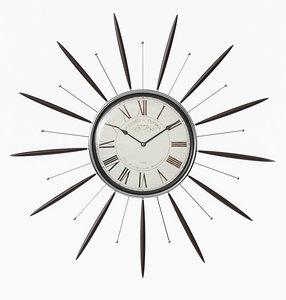 antique clock corona 3D model