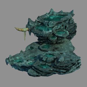 3D zhen dong - mountain rock