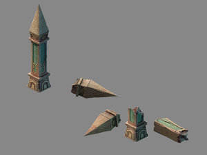 3D funeral place - stone