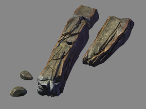 3D model funeral place - stone