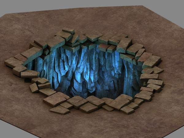 3D funeral place - tiankeng model