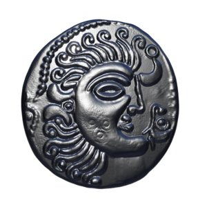3D old celtic coin
