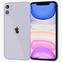 3D realistic apple iphone 11 model