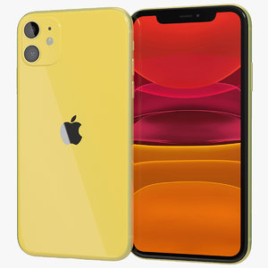 realistic apple iphone 11 3D model