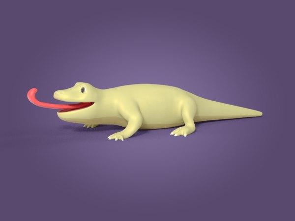 cartoon lizard 3D