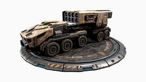 vehicle missiles - 3D model