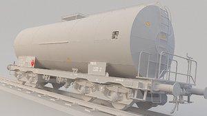 3D model train tank oil