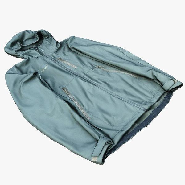 3D softshell jacket model