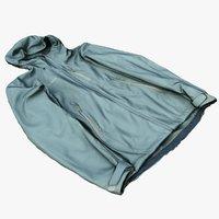 3D softshell jacket model
