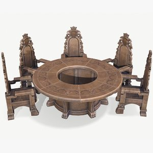 table seat 3D model