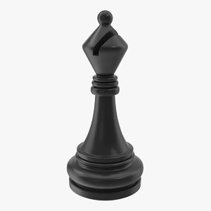 chess bishop 3D model