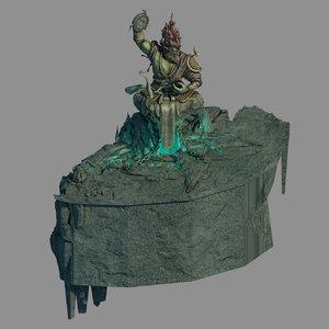 town demon cave - 3D model