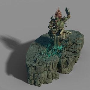 3D town magic cave -