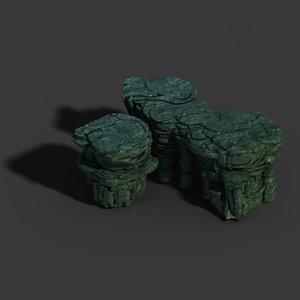 3D model town magic cave -