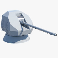 a192m 130 mm naval gun 3D model
