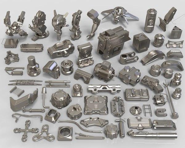 kit bashes - 65 3D model