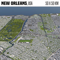 New Orleans 50x50km