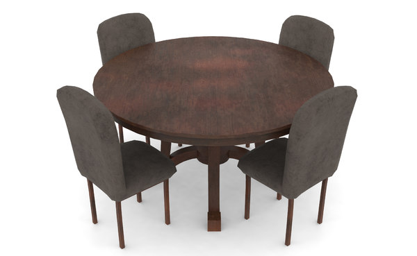 3D dining table set chair