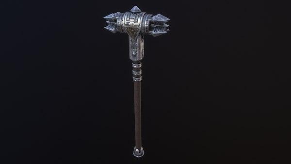 medieval hammer 3D model
