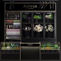 3D scene shop flower model
