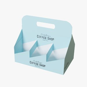 3D coffee cup tray