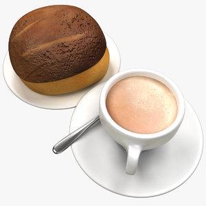 coffee bread 3D model