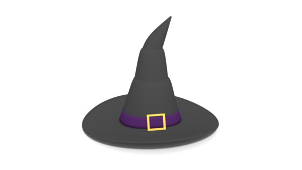 witch hat cartoon 3D model