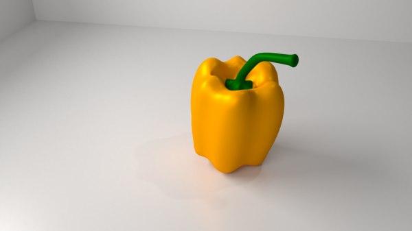 3D bell pepper 1 - model