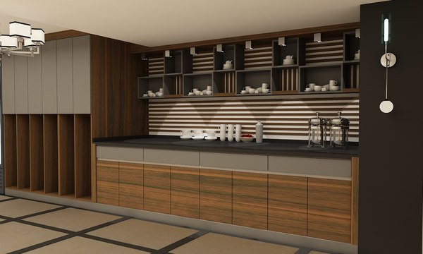3D service kitchen model