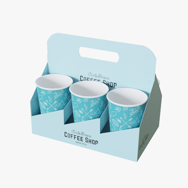 coffee cup tray 3D model