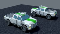 pickup truck low-poly 3D
