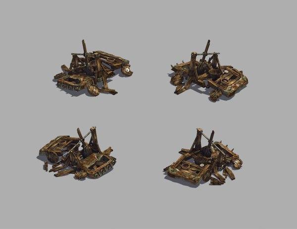 3D broken - catapult 02