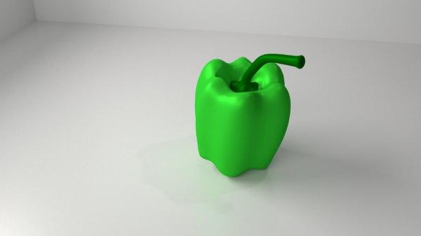 bell pepper 4 - 3D model