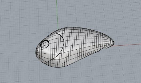 lipless crankbait crank 3D model