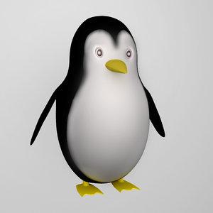 3d model of cute penguin