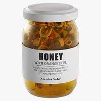 realistic honey orange peel 3D model