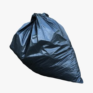 3D model garbage bag