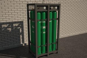 hydrogen 3D model