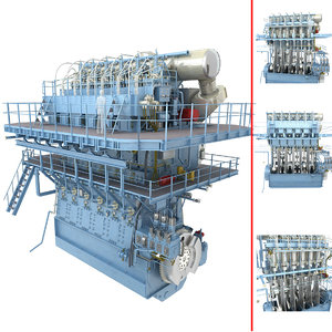 speed marine diesel engine 3D