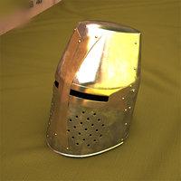 crusader helmet helm model