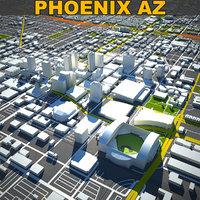 phoenix skyline 3D